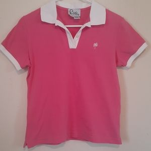💐Lilly Pulitzer pink polo shirt